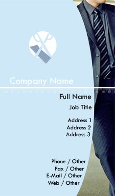 Blue Tailor Business Card Template
